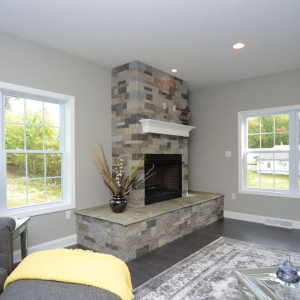 Model Home in Beaver, PA Fireplace