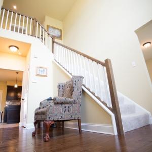 custom built home foyer