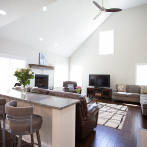 custom built home great room