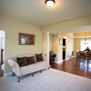 new home construction living room