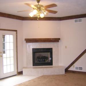 custom built family room