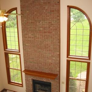 custom home great room fireplace