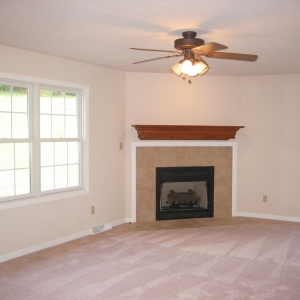 new home construction family room