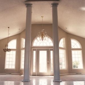 custom built home interior