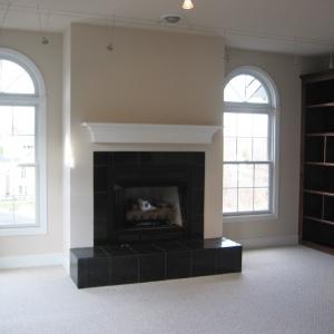 custom construction living room