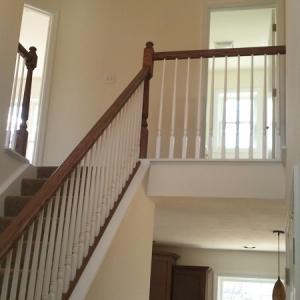 custom built home stairs