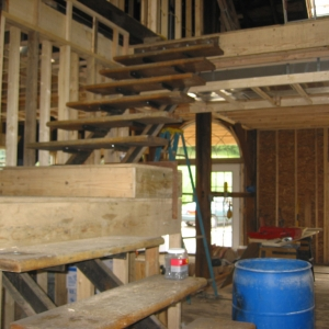 Barn Renovation interior stairway