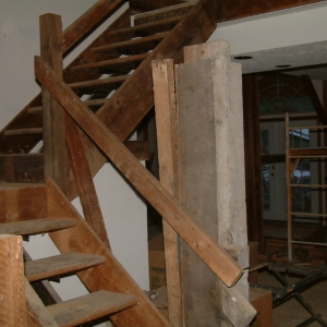 Barn Renovation stairway