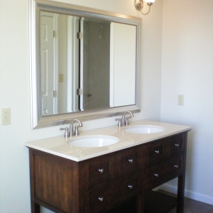new constuction double vanity