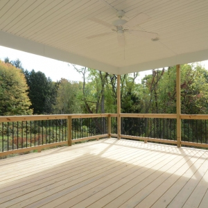 Beaver, PA Custom Home Model Deck