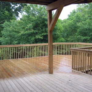 New home with deck