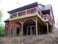 custom home exterior with deck