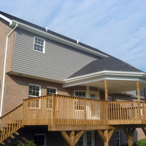 custom home and deck