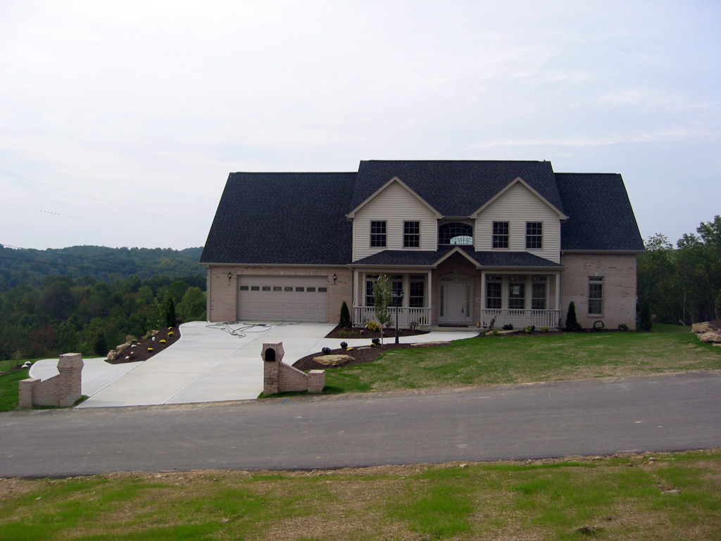 Pittsburgh custom homes exterior elevations for Unique home exteriors