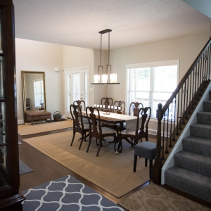 custom home dining room