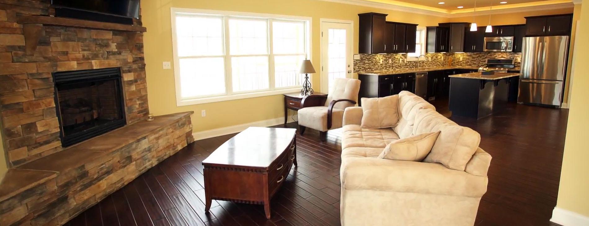 Custom Home Open Concept Interior